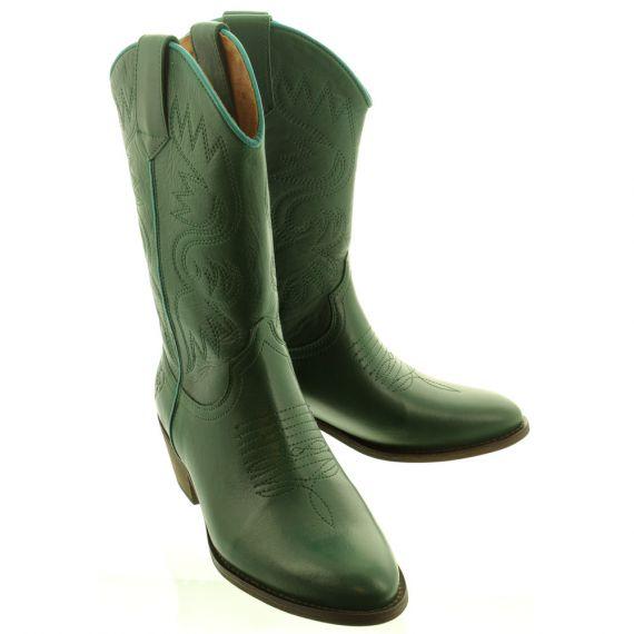 LA_PINTURA Ladies Cowboy Boots In Green