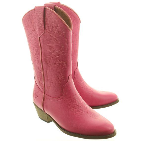 LA_PINTURA Ladies Cowboy Boots In Pink