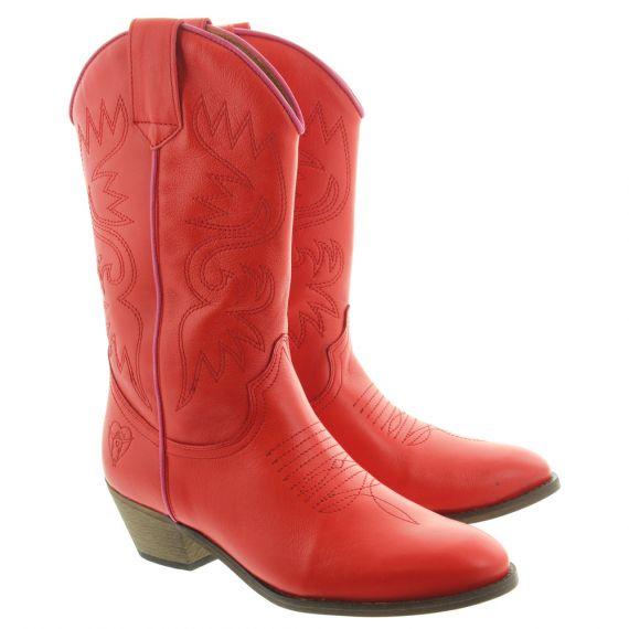 LA_PINTURA Ladies Cowboy Boots In Red