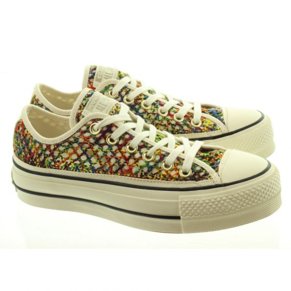 CONVERSE Ladies CTAS Lift Ox Shoes In Multicoloured