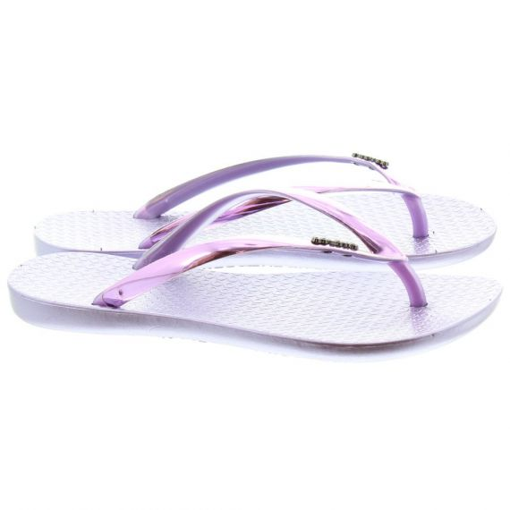 COLOKO Ladies Dahila Metallic Toe Post Sandals In Purple