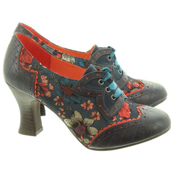 RUBY SHOO Ladies Daisy Lace Shoes In Blue