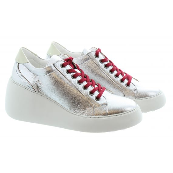 FLY Ladies Dile Wedge Trainers In Silver