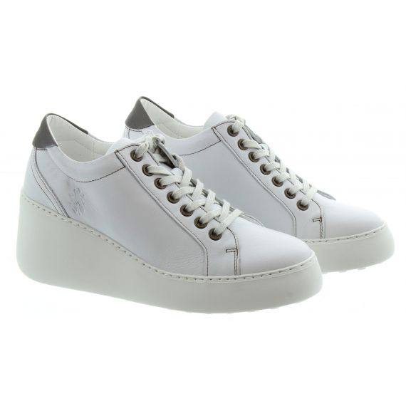 FLY Ladies Dile Wedge Trainers In White