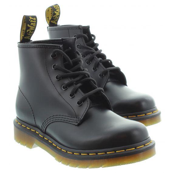 DR MARTENS Ladies Dr Martens 101 6 Eye Boot in Black