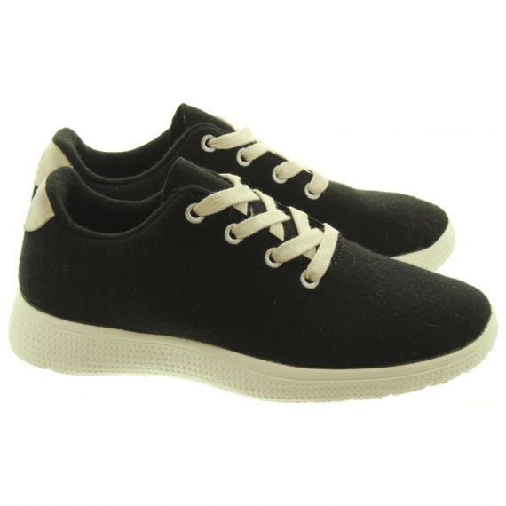 EGOS Ladies EGOS Wool Trainers In Black