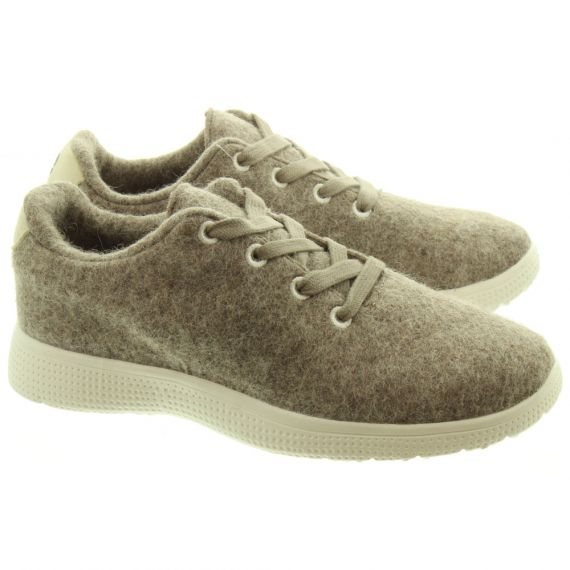 EGOS Ladies EGOS Wool Trainers In Grey
