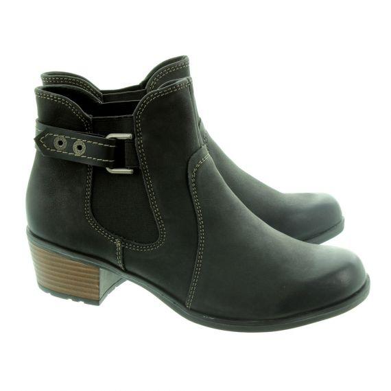 EARTH SPIRIT Ladies El Reno Ankle Boots In Black