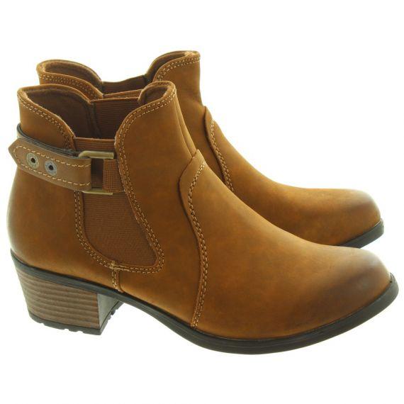 EARTH SPIRIT Ladies El Reno Ankle Boots In Tan