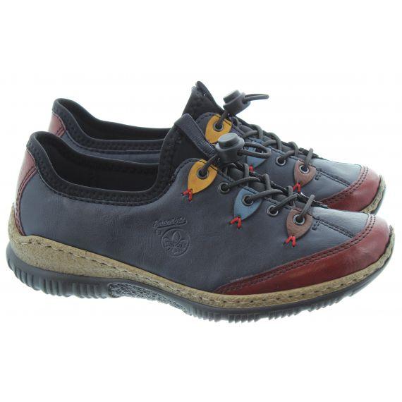 RIEKER Ladies Elastic N3271 Shoe in Navy Multi