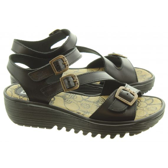 FLY Ladies Elit Sandals In Black