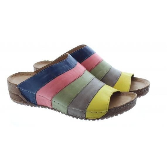 ADESSO Ladies Eva Rainbow Stripe Mules In Multi
