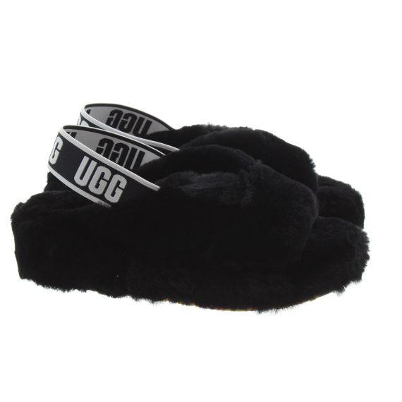 UGG Ladies Fab Yeah Slides In Black
