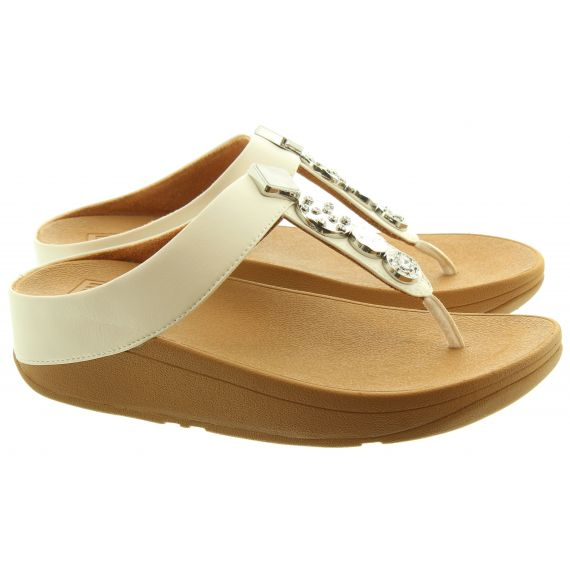 FITFLOP Ladies Fino Circle Toe Post Sandals In Stone