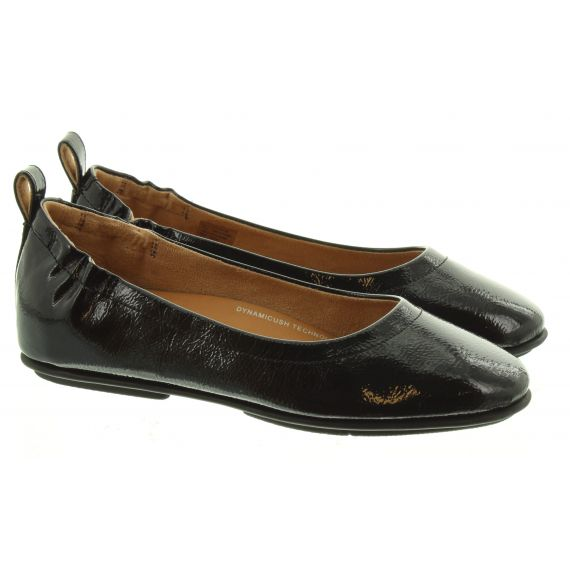 FITFLOP Ladies Fitflop Allegro Crinkle Shoes In Black Patent
