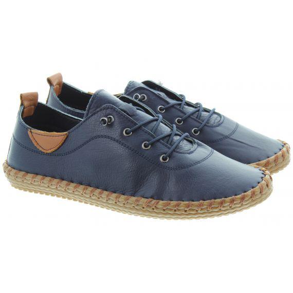LUNAR Ladies FLG019 Whitstable Shoes In Navy