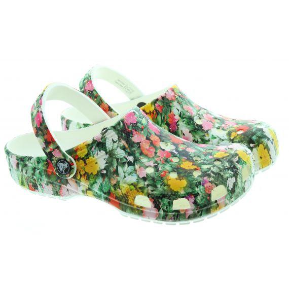 CROCS Ladies Floral Clogs In Floral Multi