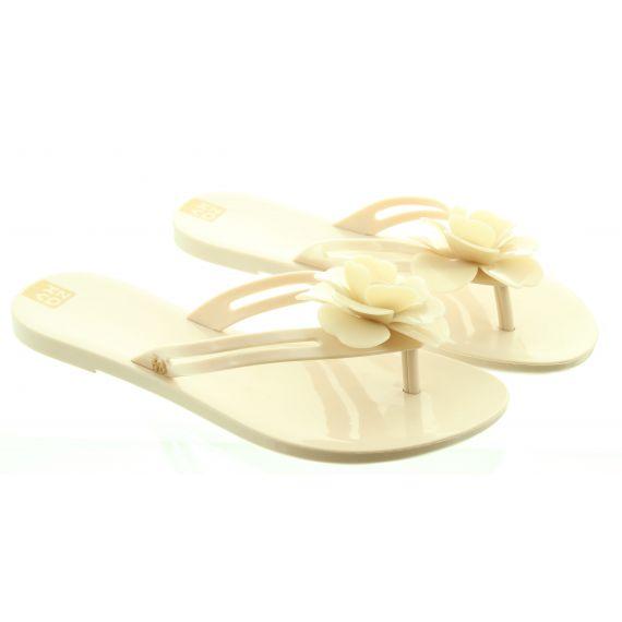 ZAXY Ladies Flower Power Toe Post Sandals In Blush