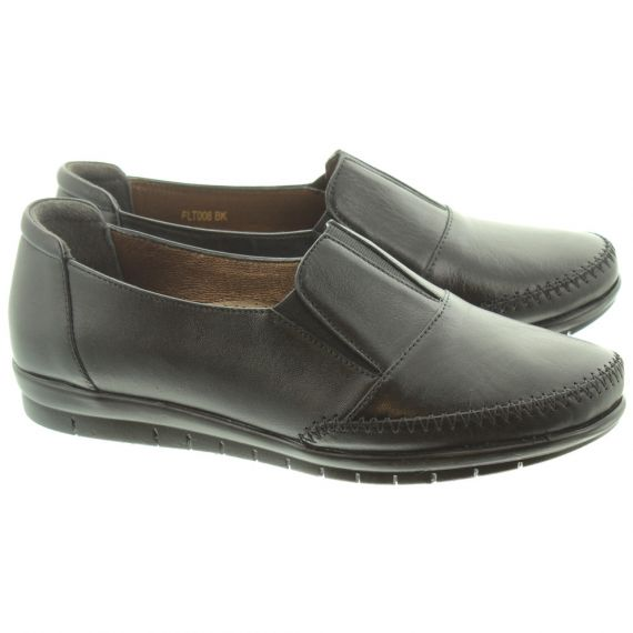 LUNAR Ladies FLT008 Lilly Loafers In Black