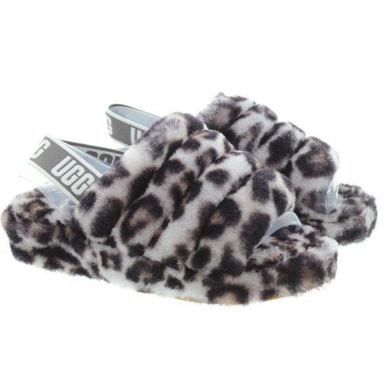 UGG Ladies Fluff Yeah Panther Slides In Grey