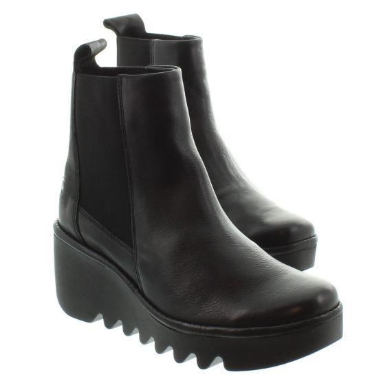 FLY Ladies Fly Bagu Wedge Ankle Boot in Black