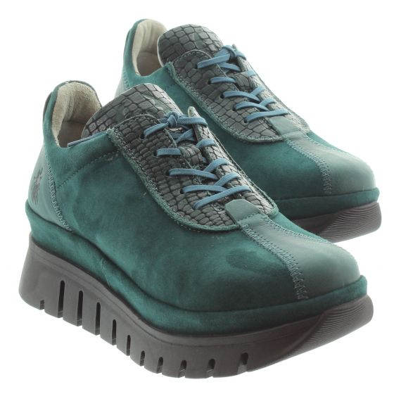 FLY Ladies Fly Besi Flat Form Shoe in Green