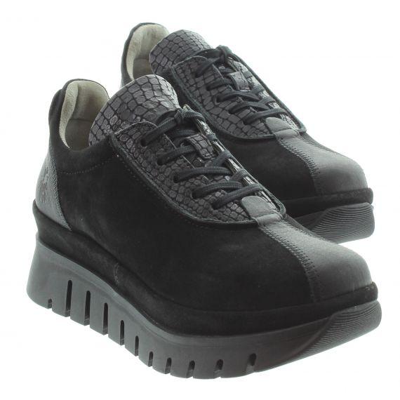 FLY Ladies Fly Besi Flatform Shoes in Black