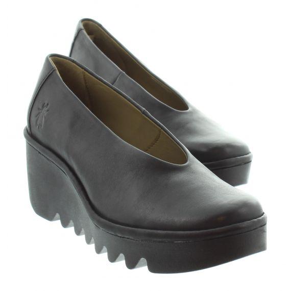 FLY Ladies Fly Beso Wedge Shoe in Black