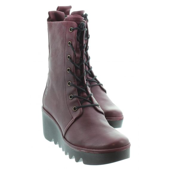 FLY Ladies Fly Bird Lace Calf Boot in Wine