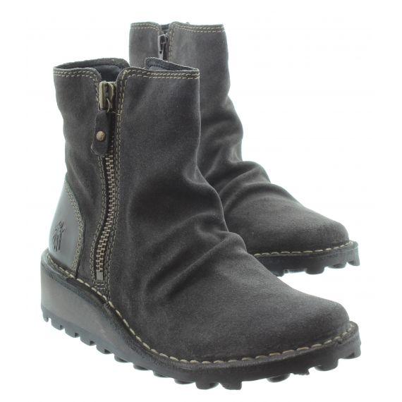 FLY Ladies Fly Mon Zip Ankle Boots in Diesel
