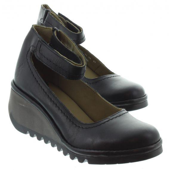 FLY Ladies Name Wedge Shoes In Black