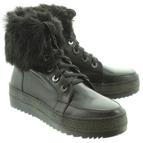 REGARDE LE CIEL Ladies Funny 19 Ankle Boots In Black