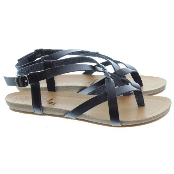 BLOWFISH Ladies Granola Toe Post Sandals In Black