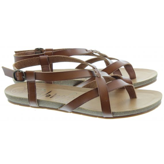 BLOWFISH Ladies Granola Toe Post Sandals In Tan