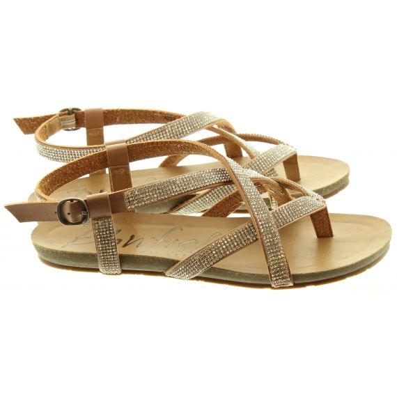 BLOWFISH Ladies Granola Vegan Sandals In Rose Gold