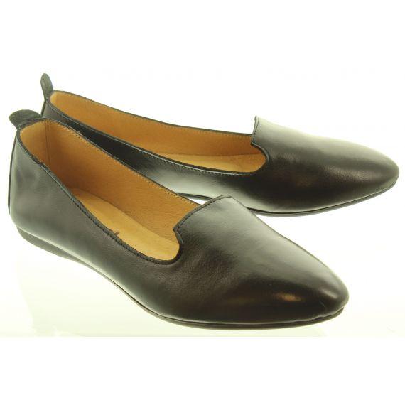 LAN_KARS Ladies H30 Flat Loafers In Black