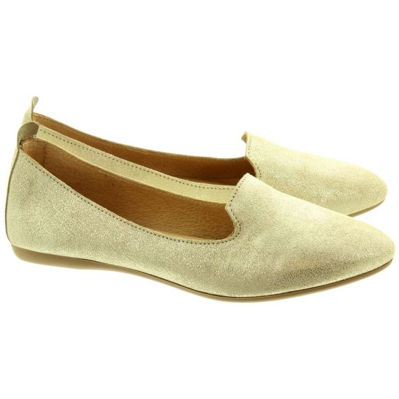 LAN_KARS Ladies H30 Flat Loafers In Gold