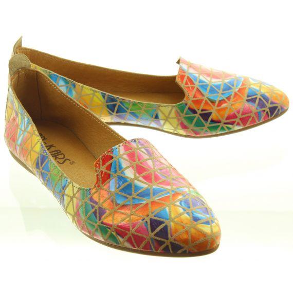 LAN_KARS Ladies H30 Flat Loafers In Multicoloured