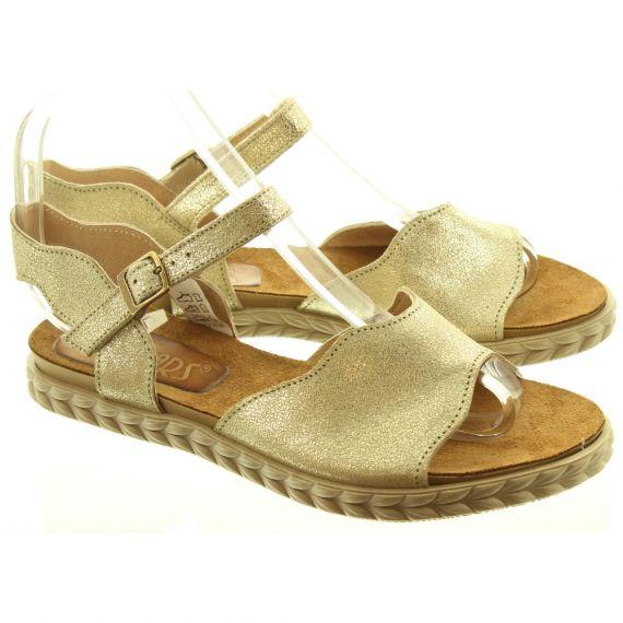 LAN_KARS Ladies H33 Flat Sandals In Gold