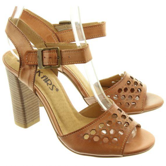 LAN_KARS Ladies H44 Heel Sandals In Tan