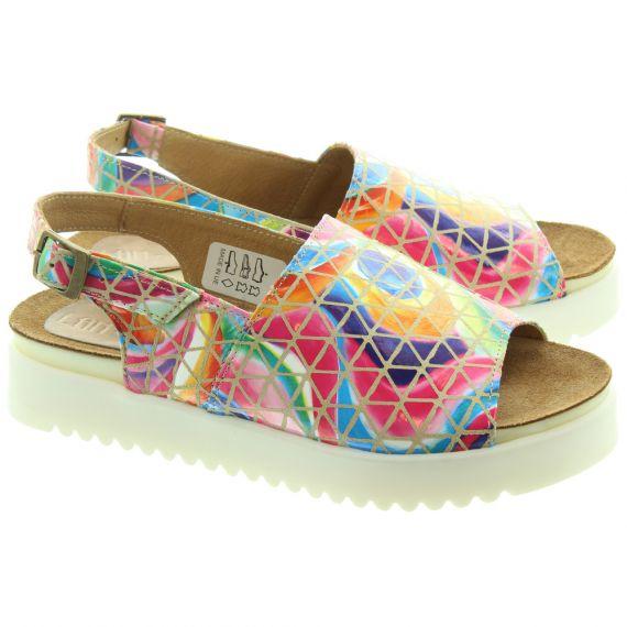 LAN_KARS Ladies H47 Flat Sandals In Multicoloured