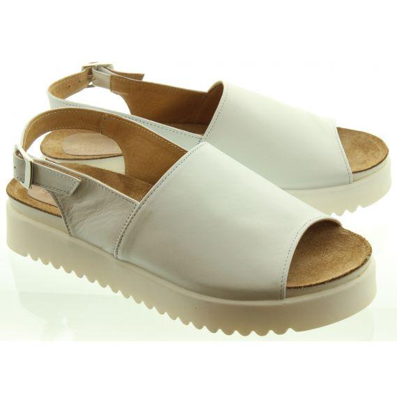 LAN_KARS Ladies H47 Flat Sandals In White