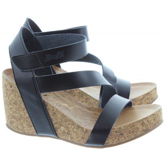 BLOWFISH Ladies Hapuku Wedge Sandals In Black
