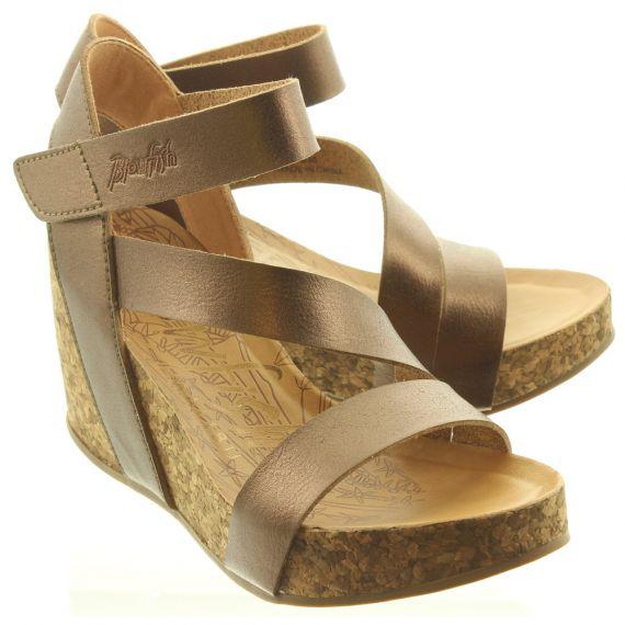 BLOWFISH Ladies Hapuku Wedge Sandals In Bronze