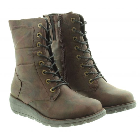 HEAVENLY FEET Ladies Heavenly Feet Martina Lace Calf Boot in Brown