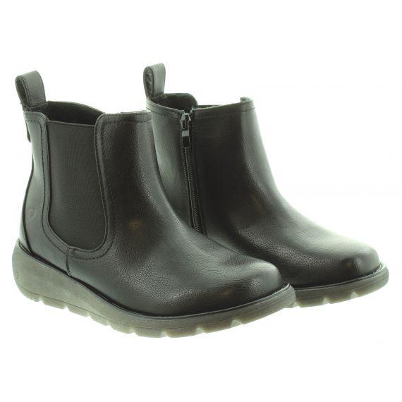 HEAVENLY FEET Ladies Heavenly feet Rolo 3 Flat Chelsea in Black