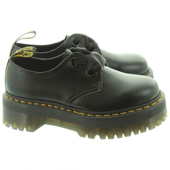 DR MARTENS Ladies Holly Platform Shoes In Black