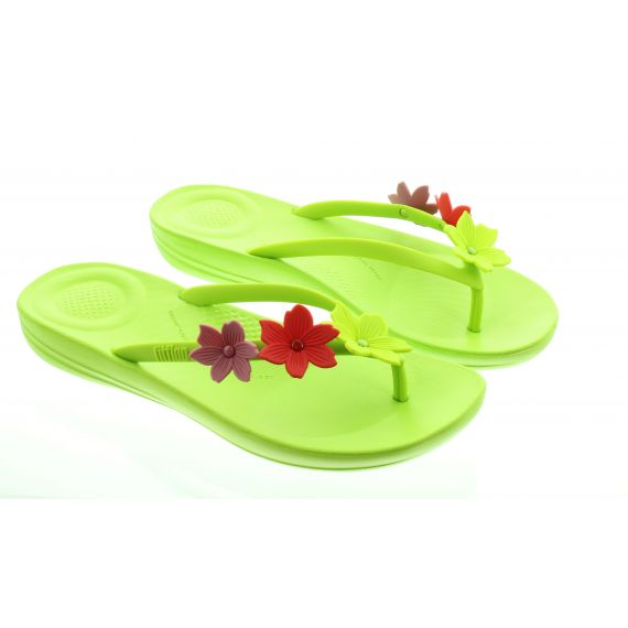 FITFLOP Ladies Iqushion Floral Sandals In Lime