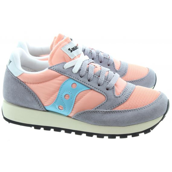 SAUCONY Ladies Jazz Original Vintage Trainers In Peach