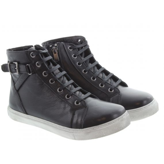 LUNAR Ladies Jemma Lace Ankle Boots In Black